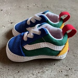 Brand new Vans shoes toddler size 1  blue green